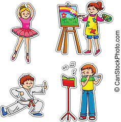 kids with hobbies - Children in different enrichment classes...