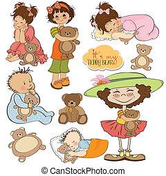kids with teddy bears items