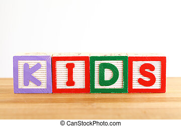 KIDS wooden toy block
