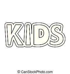 kids word isolated icon