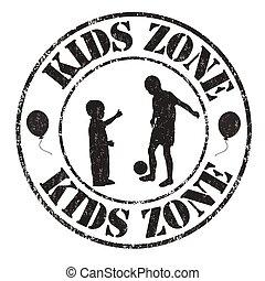 Kids zone stamp