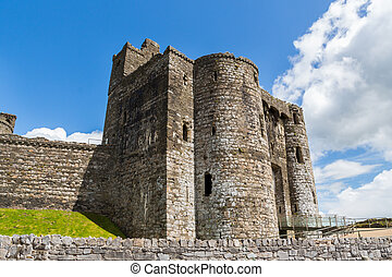 Kidwelly Castle Wales - Remains of the Norman Kidwelly...