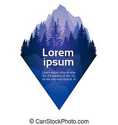 kiefernwald, landschaftsbild, berg, himmelsgewölbe, wälder