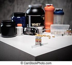 kiegészítések, kémia, testépítés, táplálás