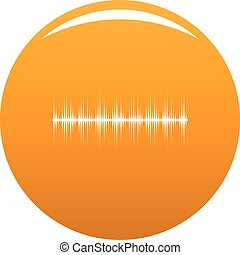 kiegyenlítő, digitális, ikon, vektor, narancs