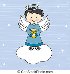 kielich, anioł
