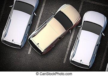 kiepski, kierowca, parking