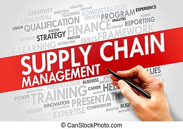 kierownictwo, łańcuch, dostarczać