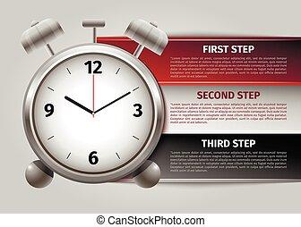 kierownictwo, czas, infographics