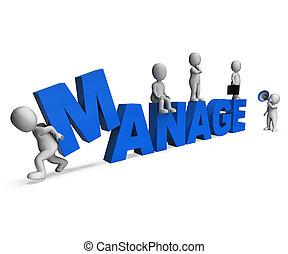 kierownictwo, dyrekcyjny, poradzić sobie, przewodnictwo,...
