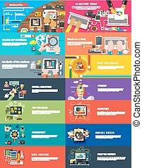 kierownictwo, handel, srartup, planowanie, cyfrowy, seo