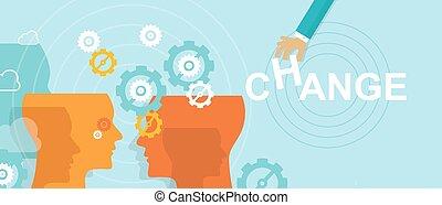 kierownictwo, kierunek, pojęcie, zmiana, ulepszenie