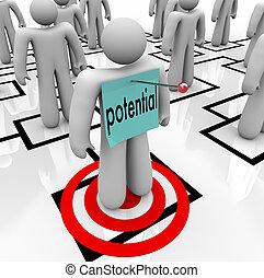 kierownictwo, słowo, targeted, możliwy, potencjał, stażysta...