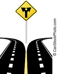 kierunek, decyzja, strzały, znak, przyszłość, wybór, droga