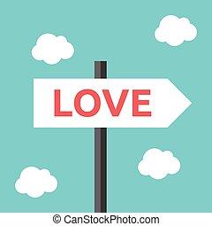 kierunek, miłość, droga znaczą