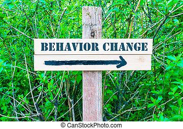 kierunkowy, zachowanie, zmiana, znak