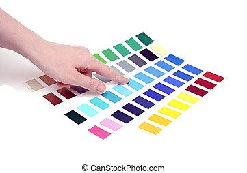 kies, kleur, van, kleur, schub