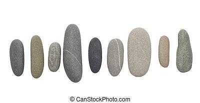 kiesel, steine, weiß