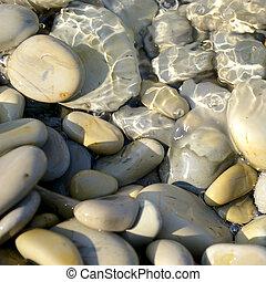 kieselsteine, aufschließen