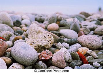 kieselsteine, sandstrand