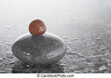 kieselsteine, zen