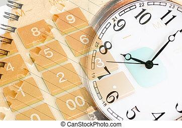 kieszeń, watch., kalkulator, pojęcie, handlowy