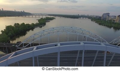 Kiev bridge aerial view