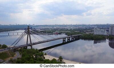 Kiev Bridge shooting with a drone