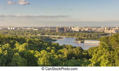 Kiev Cityscape View.
