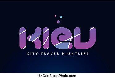 kiev european capital word text typography design
