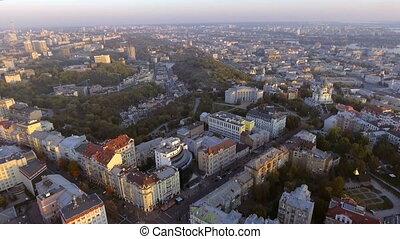 kiev., kyiv, vue., ukraine., aérien