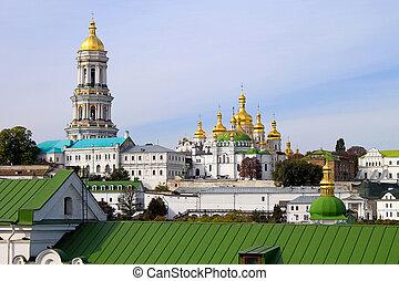 kiev, ortodosso, monastero, -, lavra, pechersk
