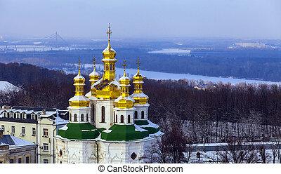 Kiev-Pechersk Lavra at winter.