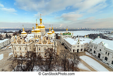 Kiev-Pechersk Lavra at winter