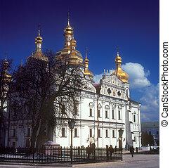 Kiev-Pechersk Lavra. - Fragment of Uspensky Cathedral in...