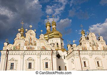 Kiev-Pechersk Lavra in Kiev. - Kiev-Pechersk Lavra monastery...