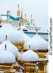 Kiev-Pechersk Lavra in winter - Kiev-Pechersk Lavra and snow...