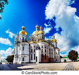 kiev, pechersk, lavra, mosteiro, em, kiev, ucrânia