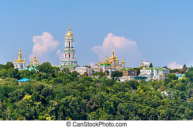 Kiev Pechersk Lavra Orthodox Monastery. View from the Paton...