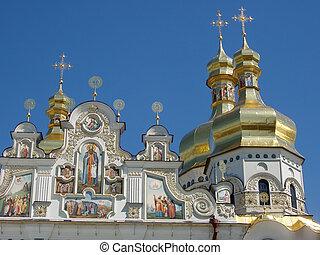 kiev, -, pechersk, lavra., santuário, de, ukraine.