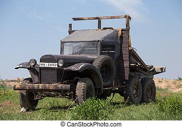 Soviet army truck GAZ - KIEV, UKRAINE - MAY 11 : Soviet army...
