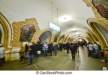 Kievskaya metro station, Moscow - MOSCOW - MAR 7 : national ...