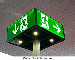 kijárat, szükségállapot cégtábla