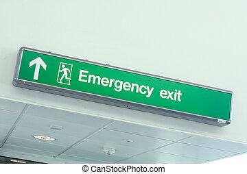kijárat, szükséghelyzet