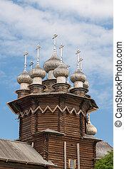 Kiji church on the blue sky