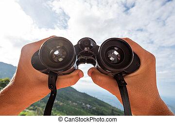 kijken door, de, binoculars.