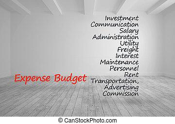 kikötések, szoba, írott, költségvetés, fényes, költség