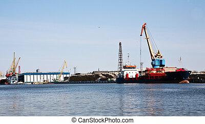 kikötő, logisztika