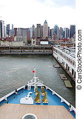 kikötő, new york