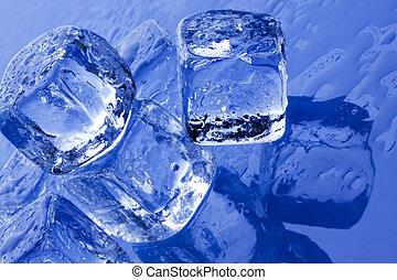 kikövez, friss, jég, tiszta, concept!